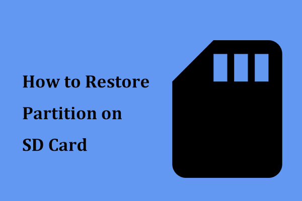 restore partition on SD card