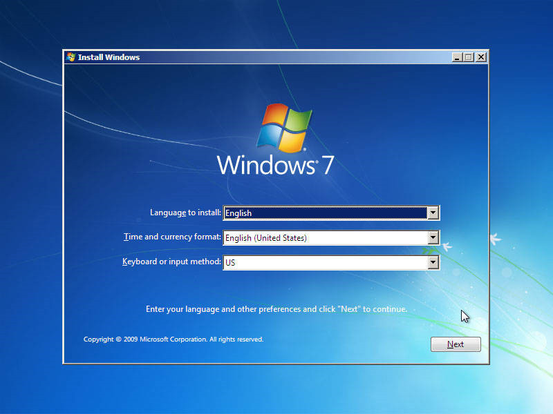 choose language and other preferences Windows 7