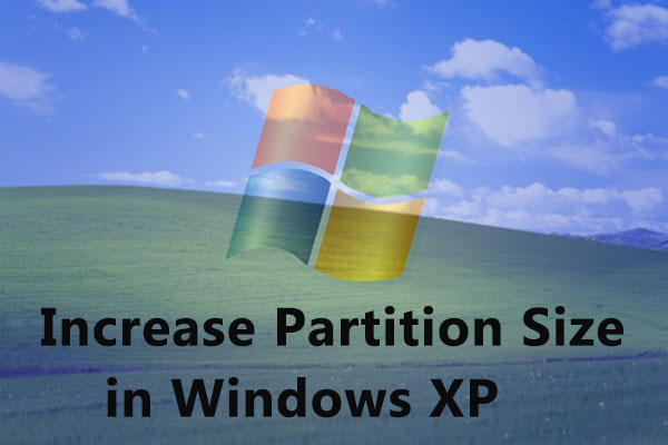 How to increase partition size in Windows XP when the partition is running out of space? MiniTool Partition Wizard is useful to extend partition in Windows XP.