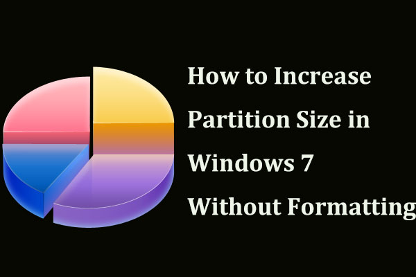 increase partition size in Windows 7