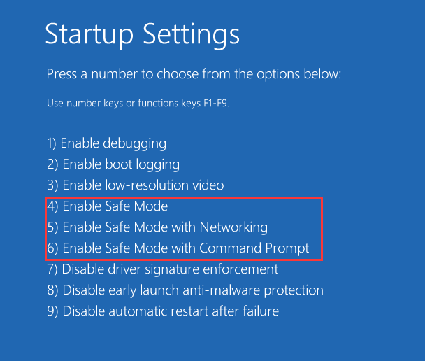 Windows 10 enable safe mode
