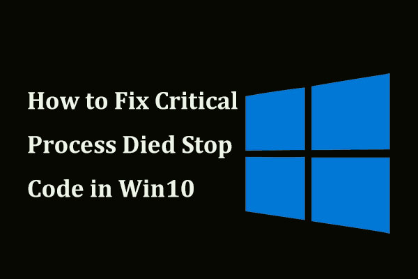 💀 8 Solutions to Fix Critical Process Died Stop Code in