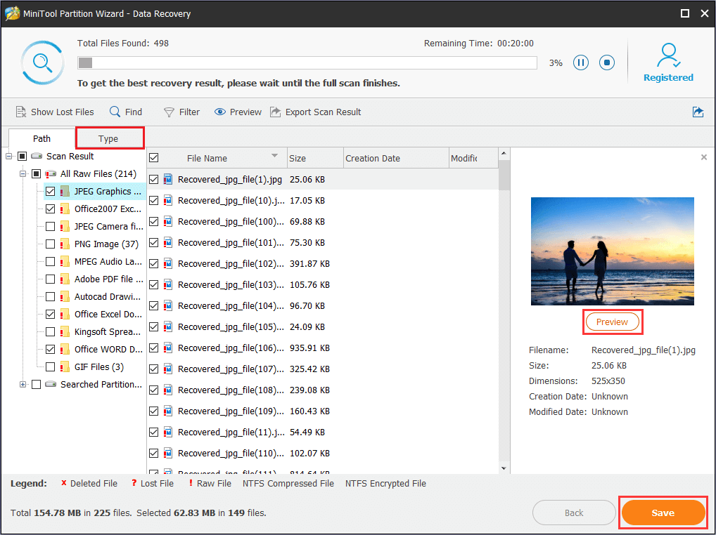 choose files and then save to a safe location