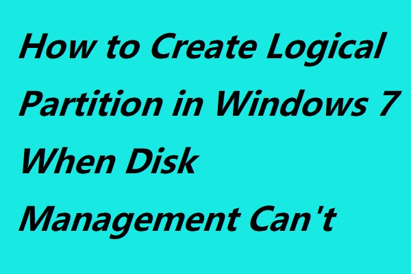 create logical partition