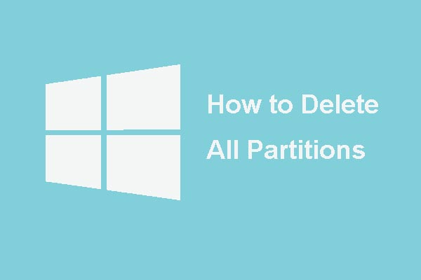 delete all partitions