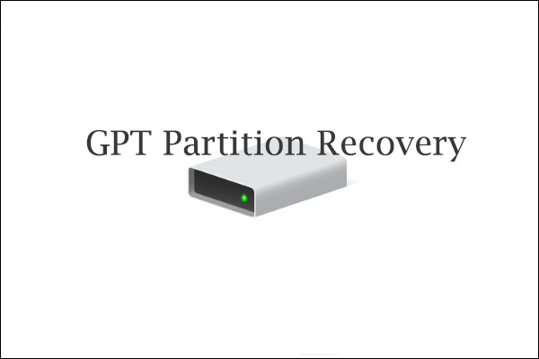 gpt partition recovery thumbnail