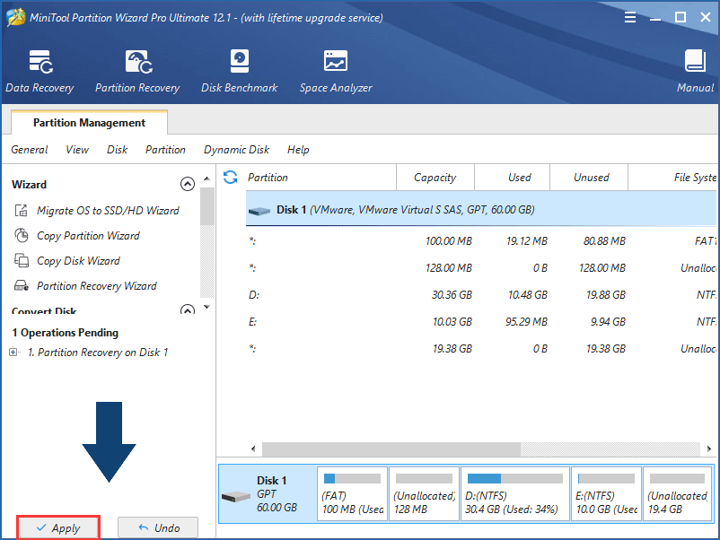 execute EFI partition recovery