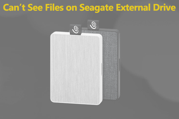 cant see files on seagate external hard drive thumbnail