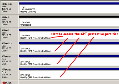 how to access GPT Protective Partition