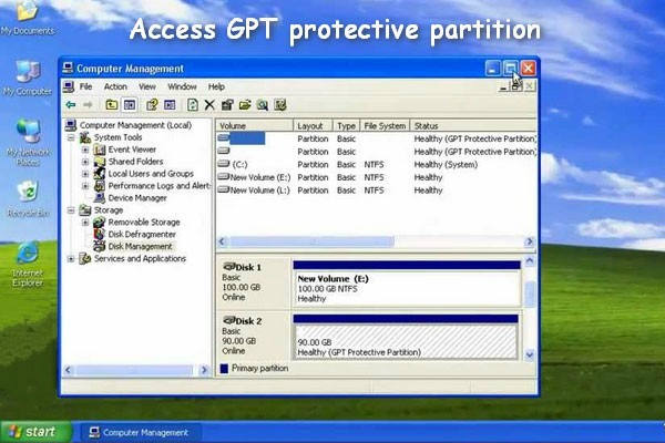 Access GPT Protective Partition