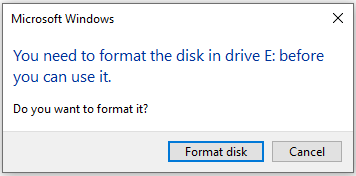 you need to format the drive before you can use it