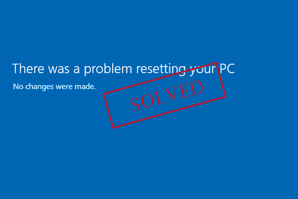 there was problem reset your pc thumbnail
