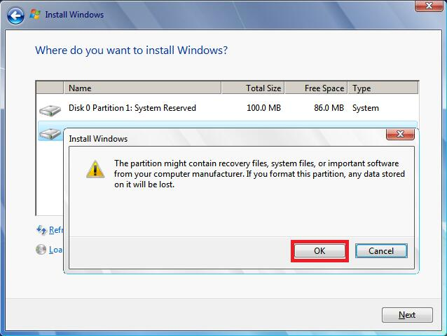 Error Code 0x80070057: Windows Could Not Format a Partition on Disk 0