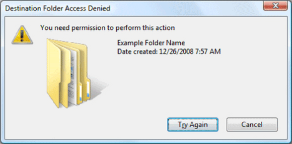 file transfer permission error
