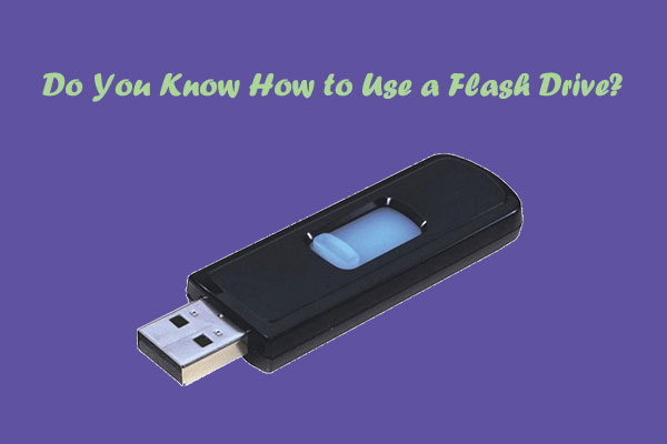how to use a flash drive thumbnail
