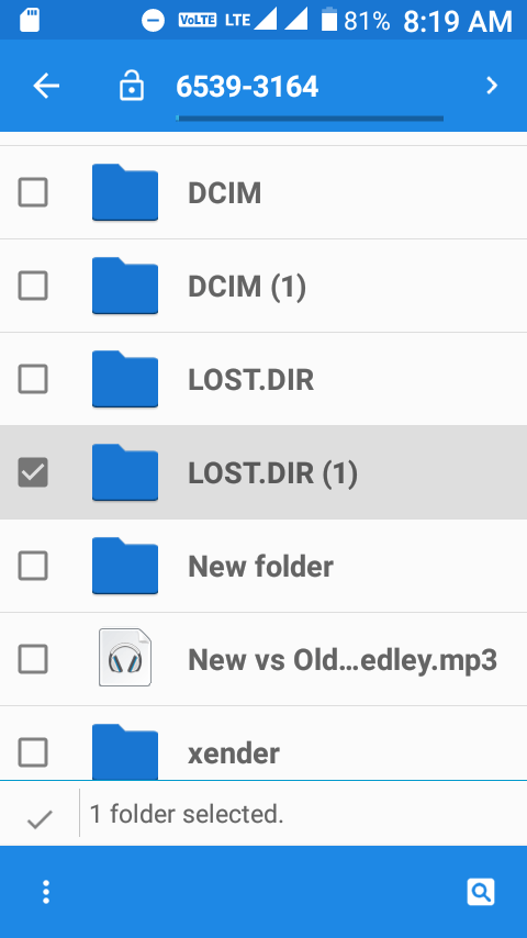LOST.DIR folder in Android smartphone