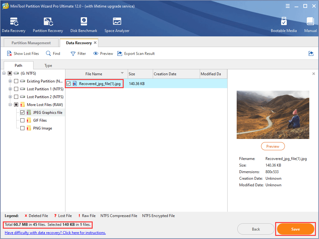 select the file and click Save