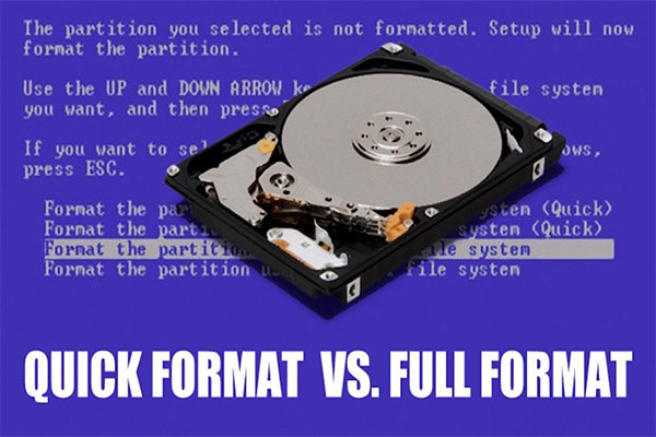 quick format vs. full format