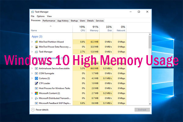 windows 10 high memory usage thumbnail