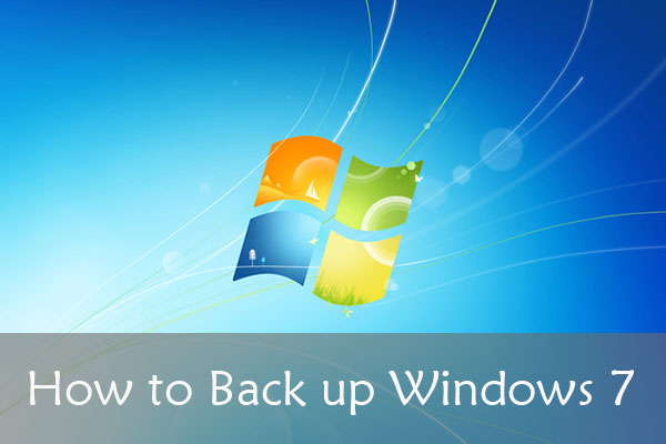 how to back up Windows 7