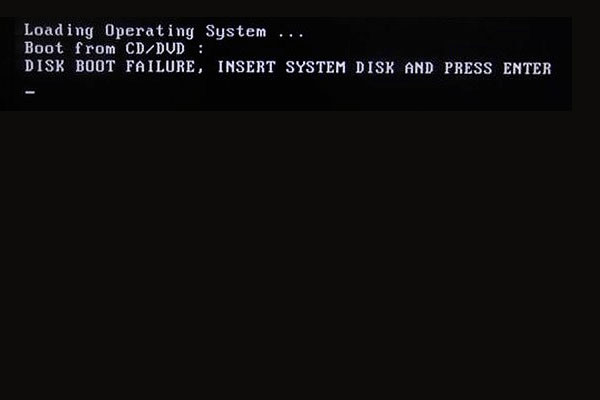 disk boot failure insert system disk and press enter