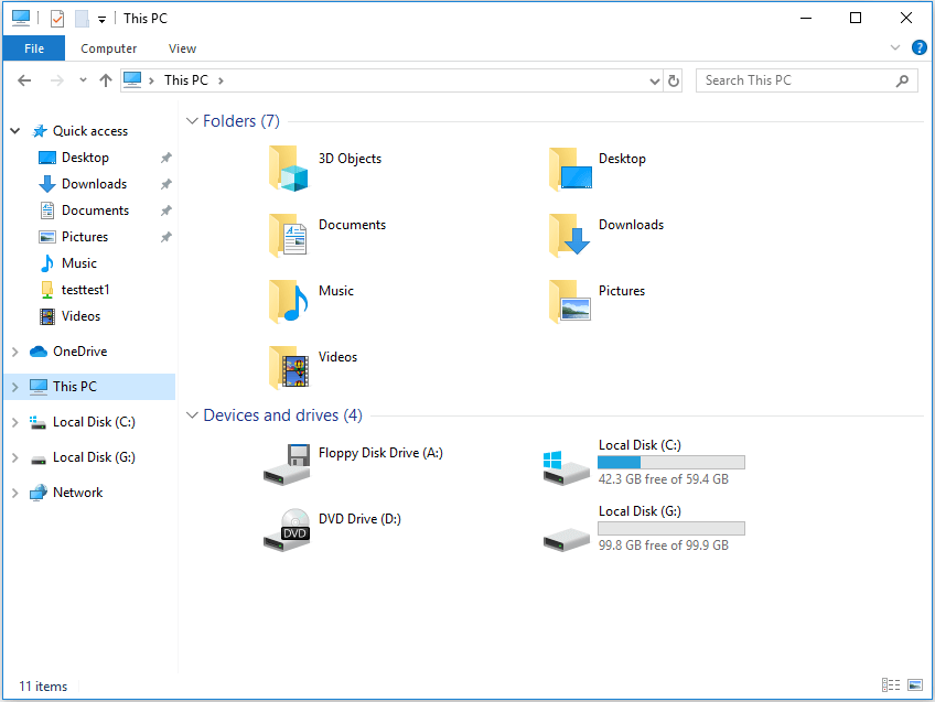 I cannot see the unallocated space in Explorer