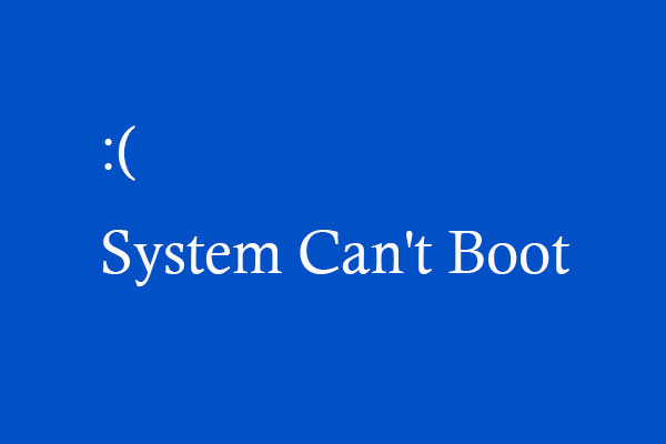 what should be done if a system cannot boot from the hard drive