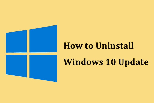 uninstall windows 10 update thumbnail