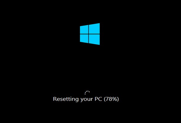 image of Resetting your PC