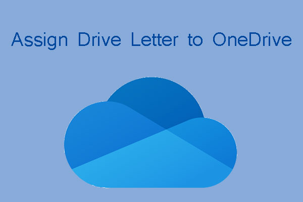 assign drive letter to onedrive thumbnail