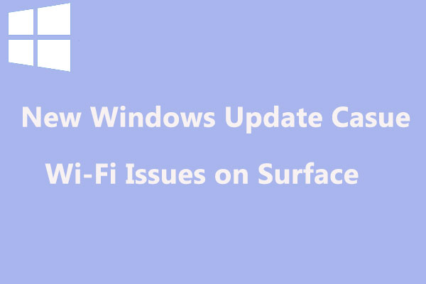 new windows update causes wifi issues on surface thumbnail