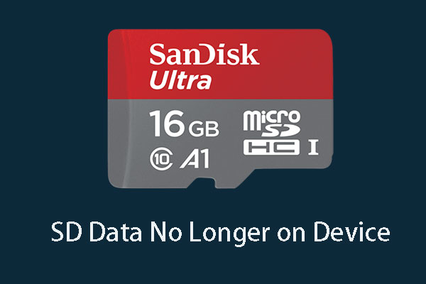 SD data on longer on device