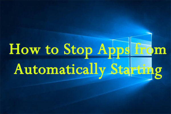 stop apps from automatically starting thumbnail