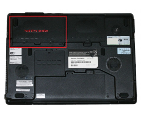compartment for hard drive