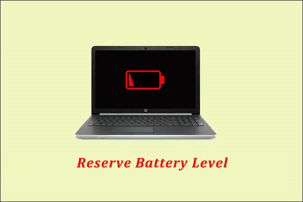 change the reserve battery level