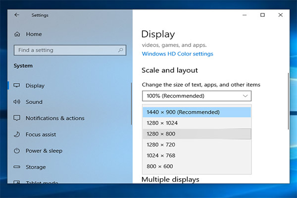 check screen resolution windows 10 thumbnail