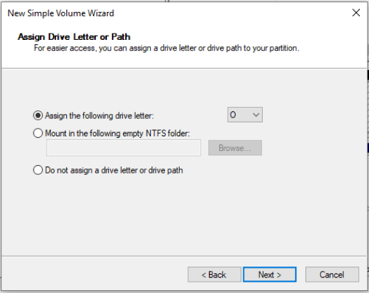 assign the drive letter and format this virtual disk drive