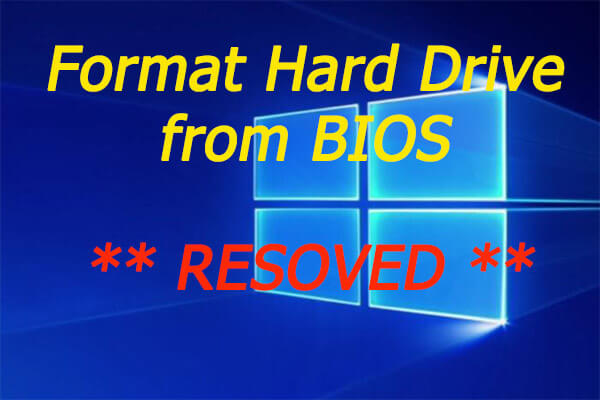 format hard drive from BIOS