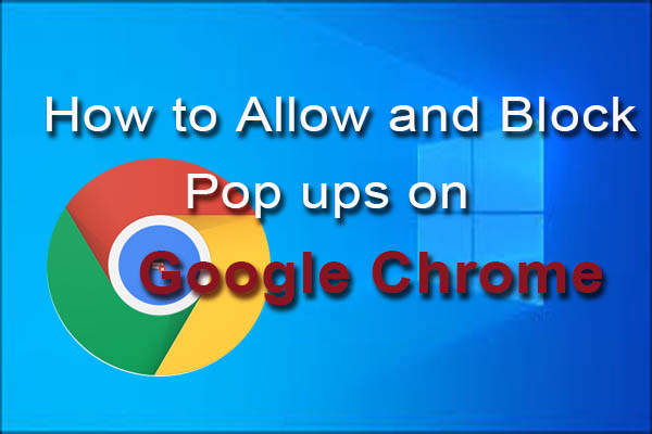 how to allow pop ups on chrome thumbnail