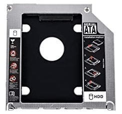 fasten a hard drive into the hard drive caddy tray for optical drive slot