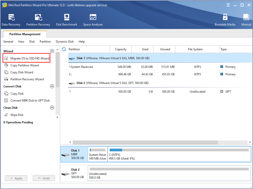 activate Migrate OS to SSD/HD feature