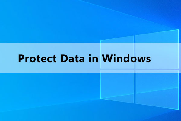 how to protect important data in windows thumbnail
