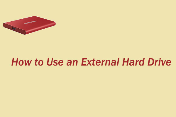 how to use an external hard drive thumbnail
