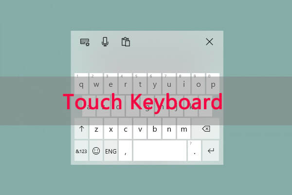 how to use the touch keyboard