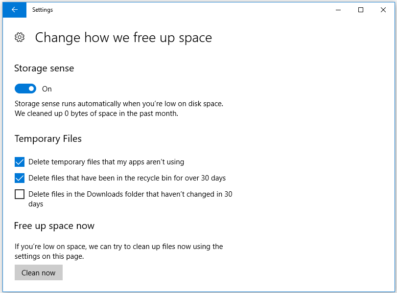 choose the temporary files you need to delete