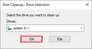 choose a drive to scan