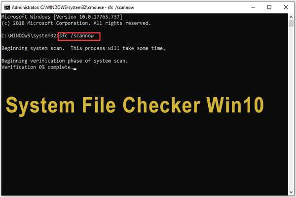 system file checker windows 10 thumbnail