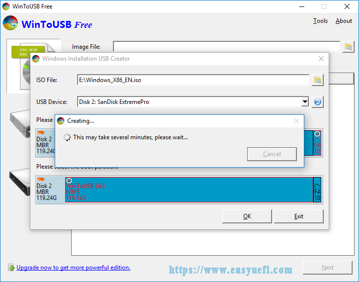 create a Windows installation USB flash drive