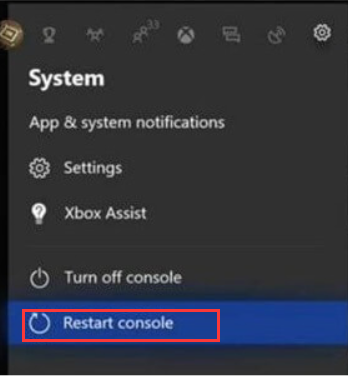 click on Restart console