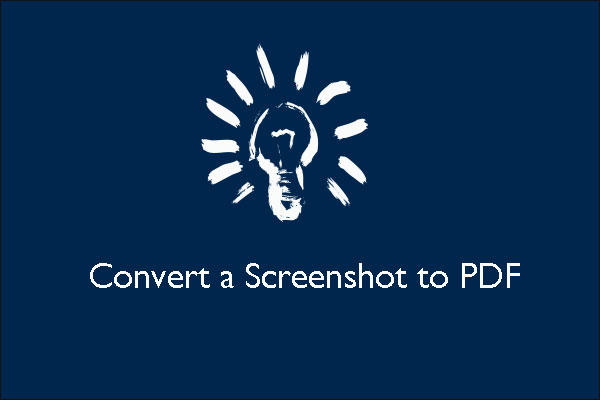 convert a screenshot to pdf thumbnail